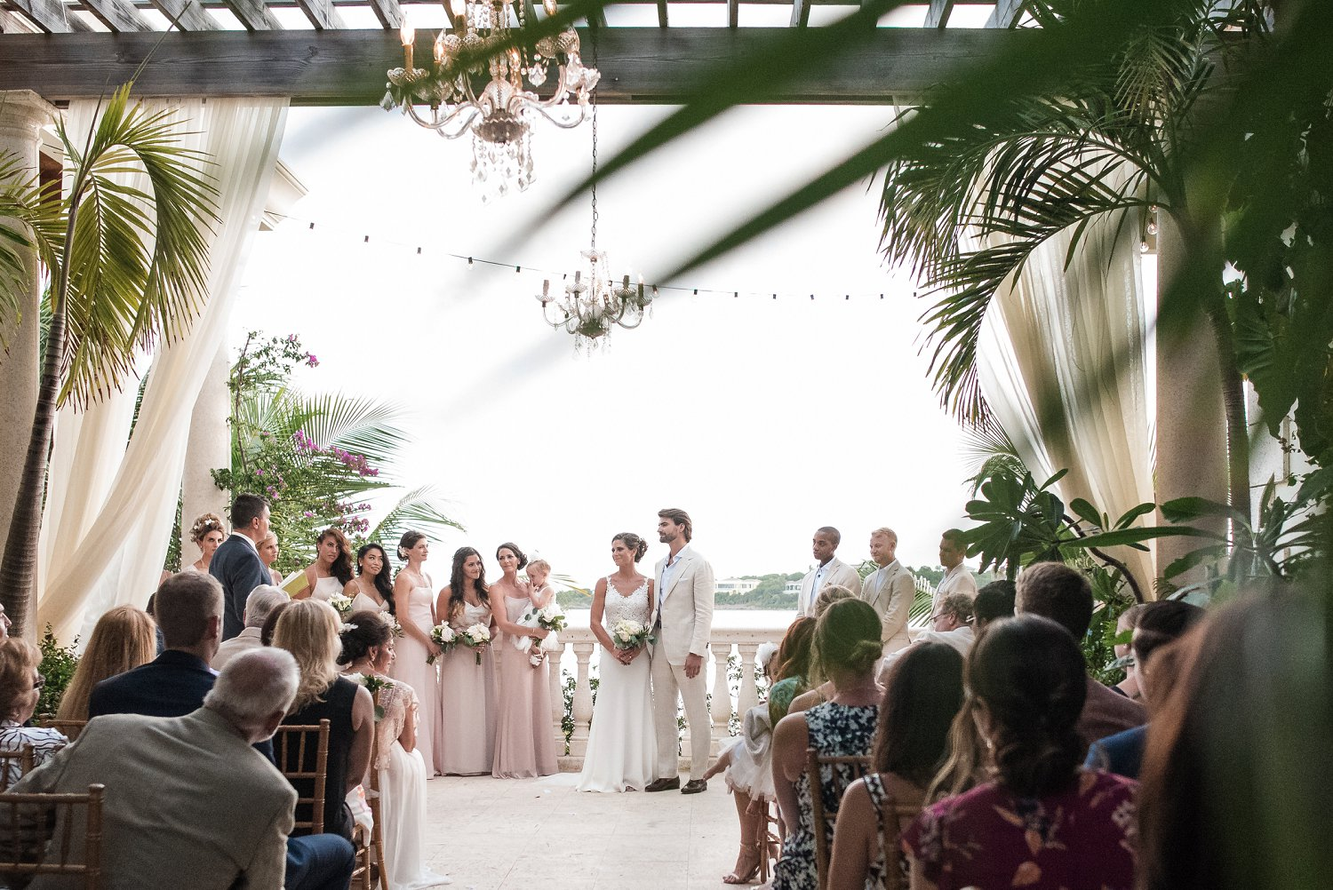 Wedding ceremony at Villa Serenita planned by Blue Sky Ceremony