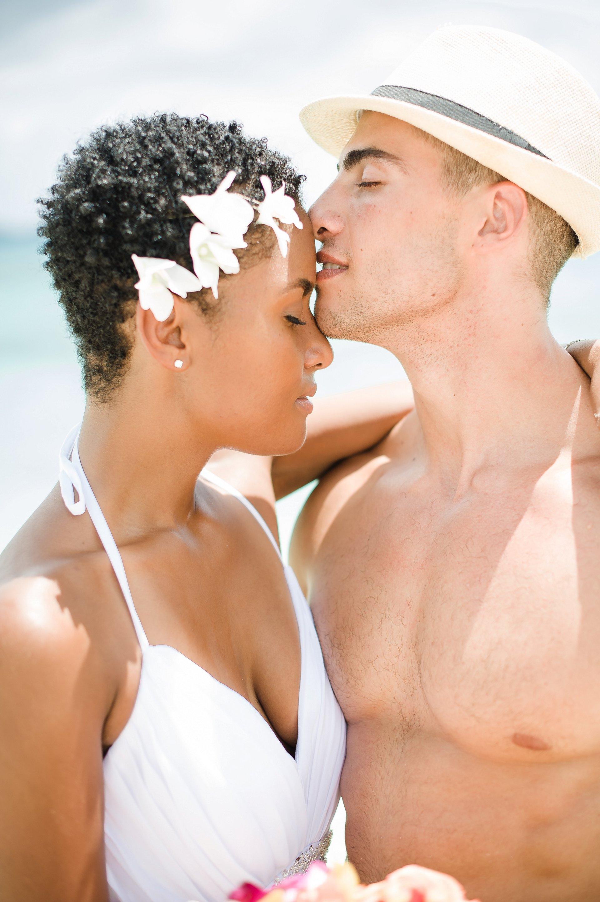 Sexy beach wedding photo.
