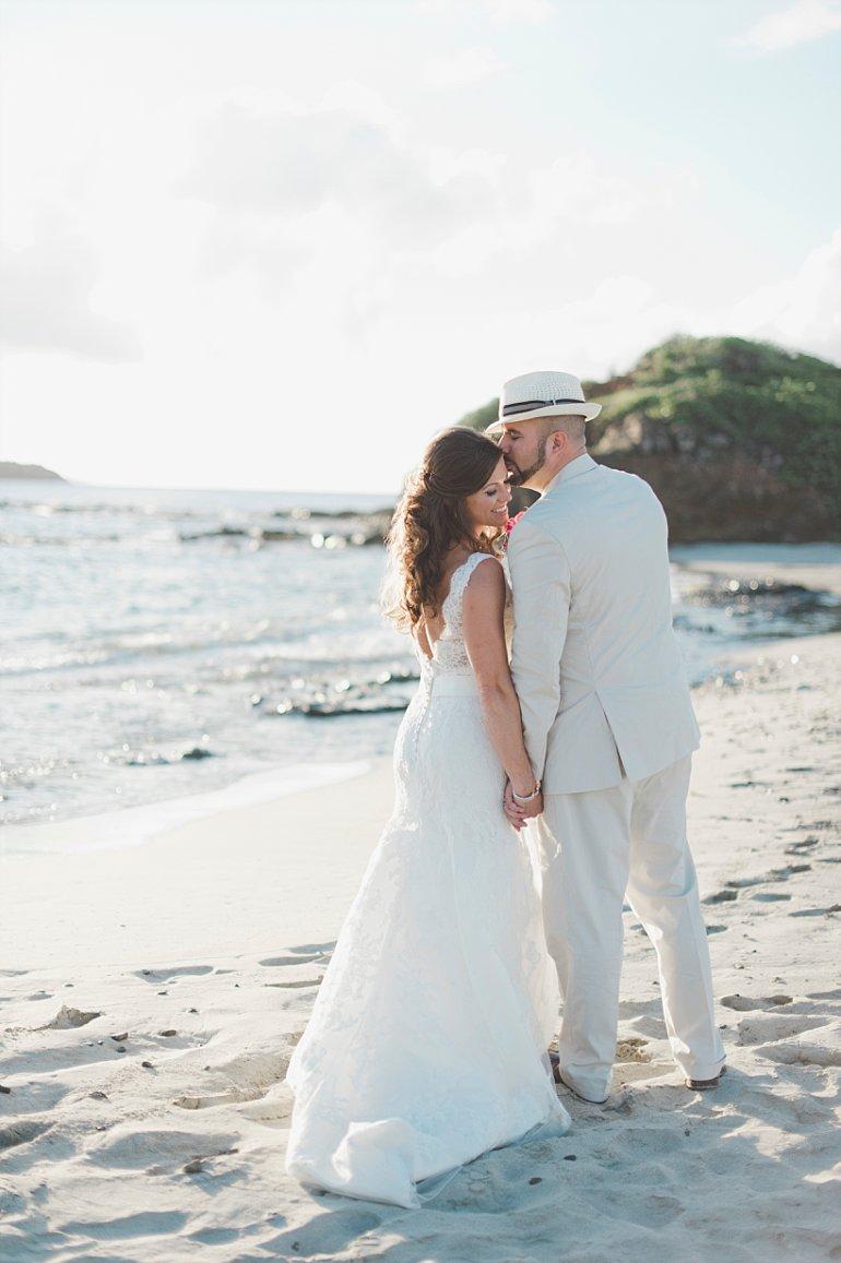 Beach wedding photo at Mermaid's Chair, Botany Bay, St. Thomas