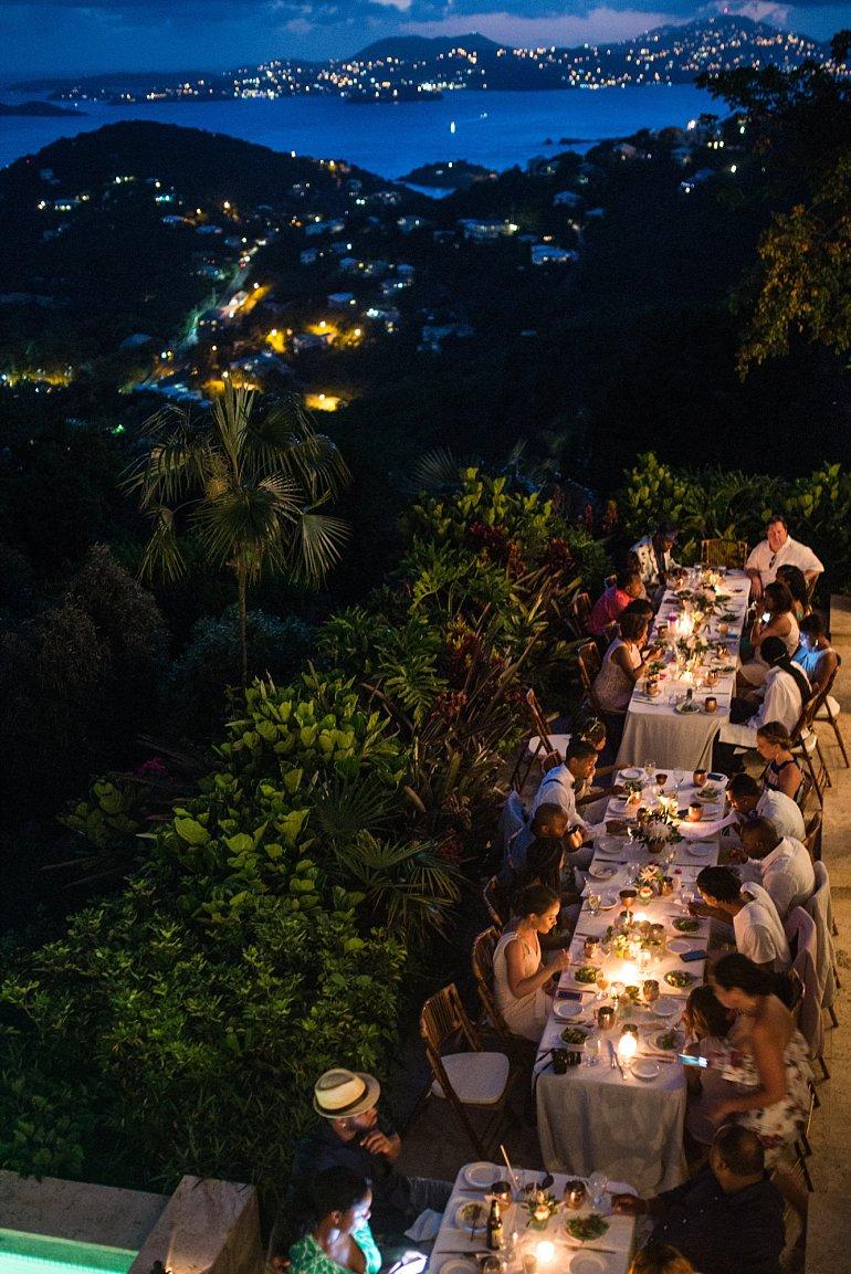 Wedding reception at Villa Kalorama in St. John