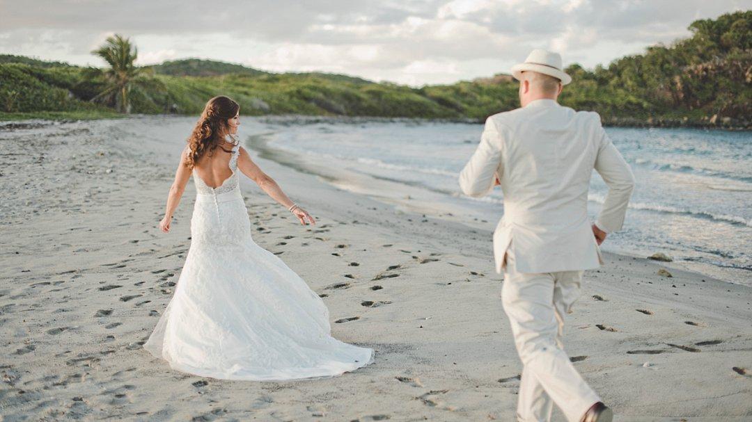 Caribbean beach wedding photo idea.