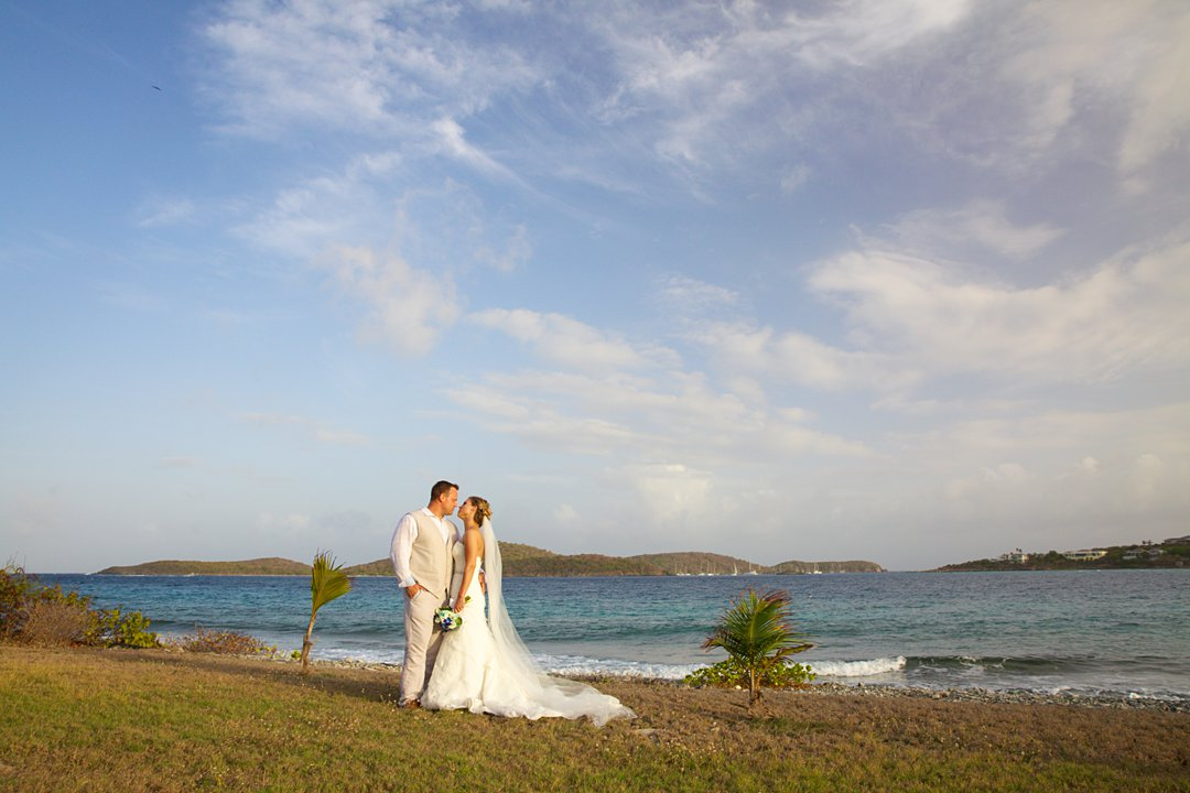 St. Thomas villa wedding couple.