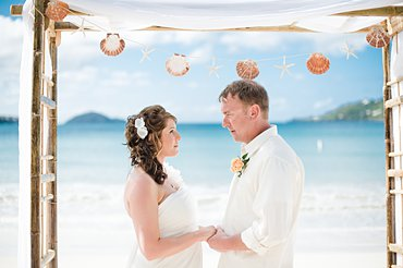 A cruise ship wedding at Magens Bay, St. Thomas.