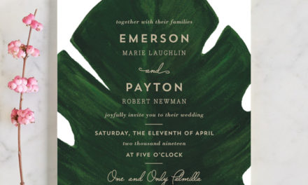 Palm Wedding Invitations by Kaydi Bishop
