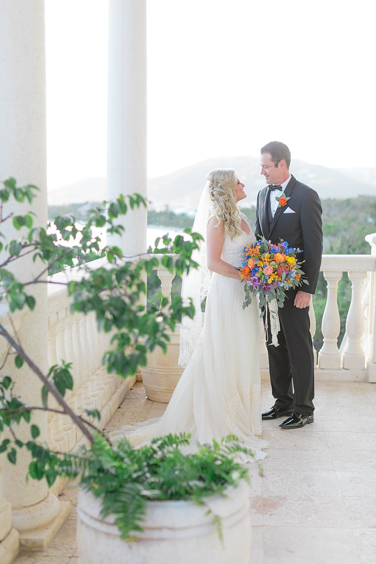 Bride and groom get married in St. Thomas