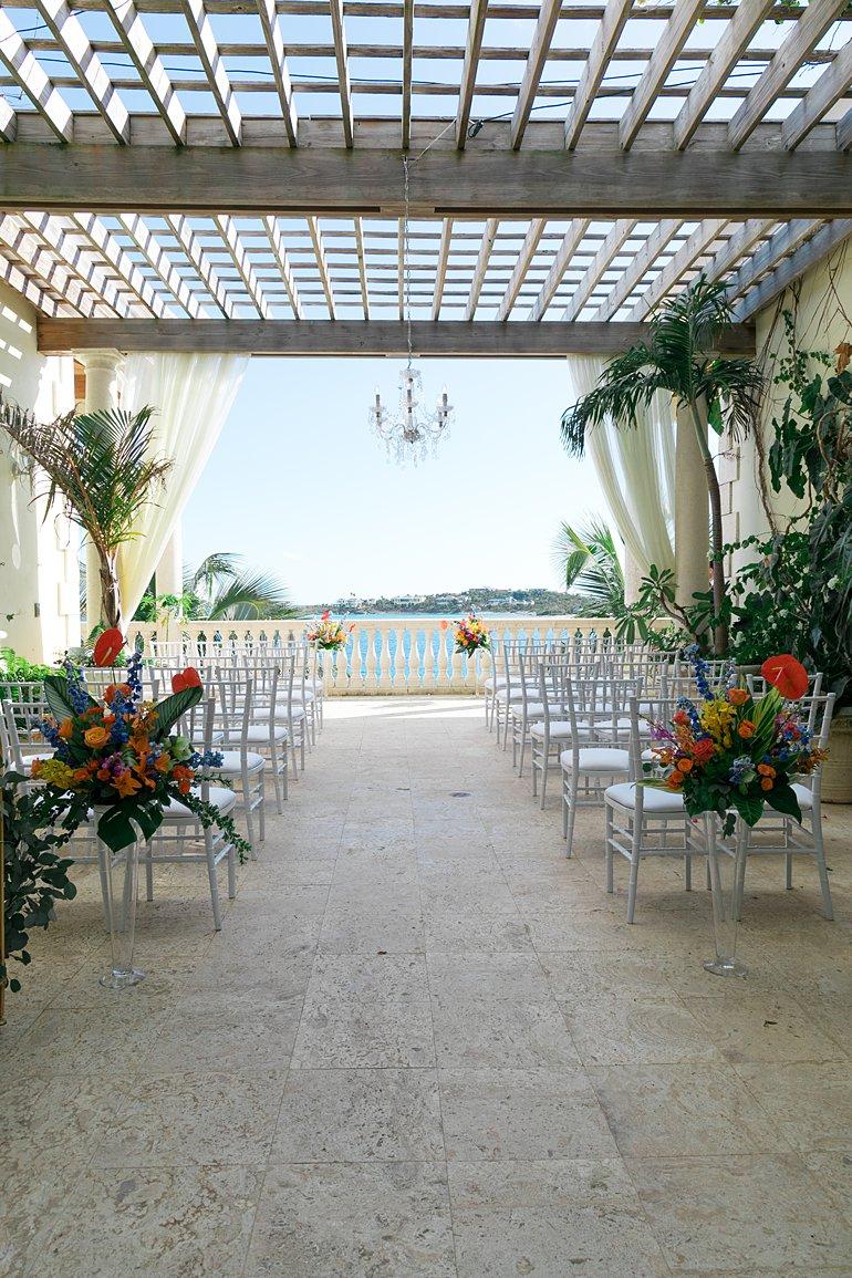 Villa Serenita wedding ceremony venue in St. Thomas, Virgin Islands