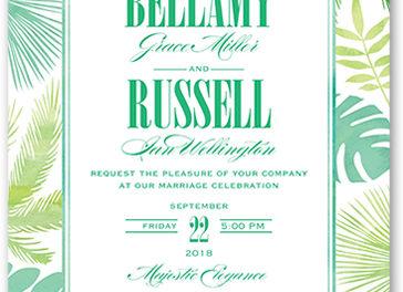 Lush Leaves Wedding Invitation
