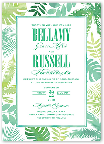 Lush Leaves Wedding Invitation