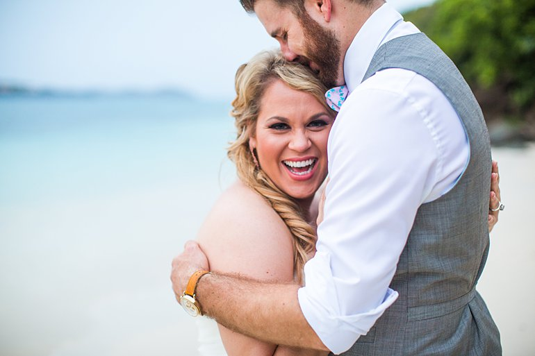 Bride and groom portrait after wedding by Savanah Loftus Photograph, St. Thomas, USVI
