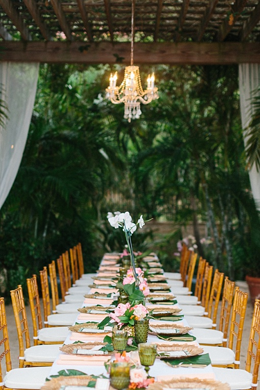 Vintage green glassware wedding table reception