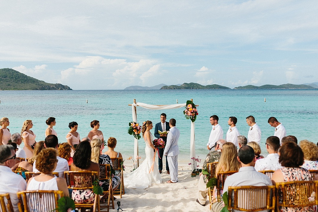 Lindquist beach wedding in St. Thomas with Island Mike